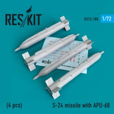 S-24 missile  with APU-68   (4 штуки)   (1/72)