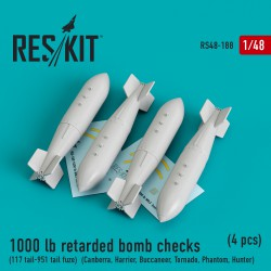 1000 lb retarded bomb checks (117 tail-951 tail fuze) (4 штуки) (1/48)