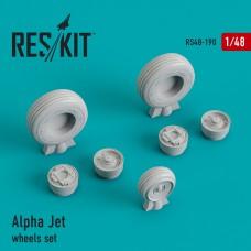 Alpha Jet смоляные колеса (1/48)