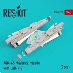 AGM-65 Maverick missile with LAU-117  (2 штуки) (1/48)