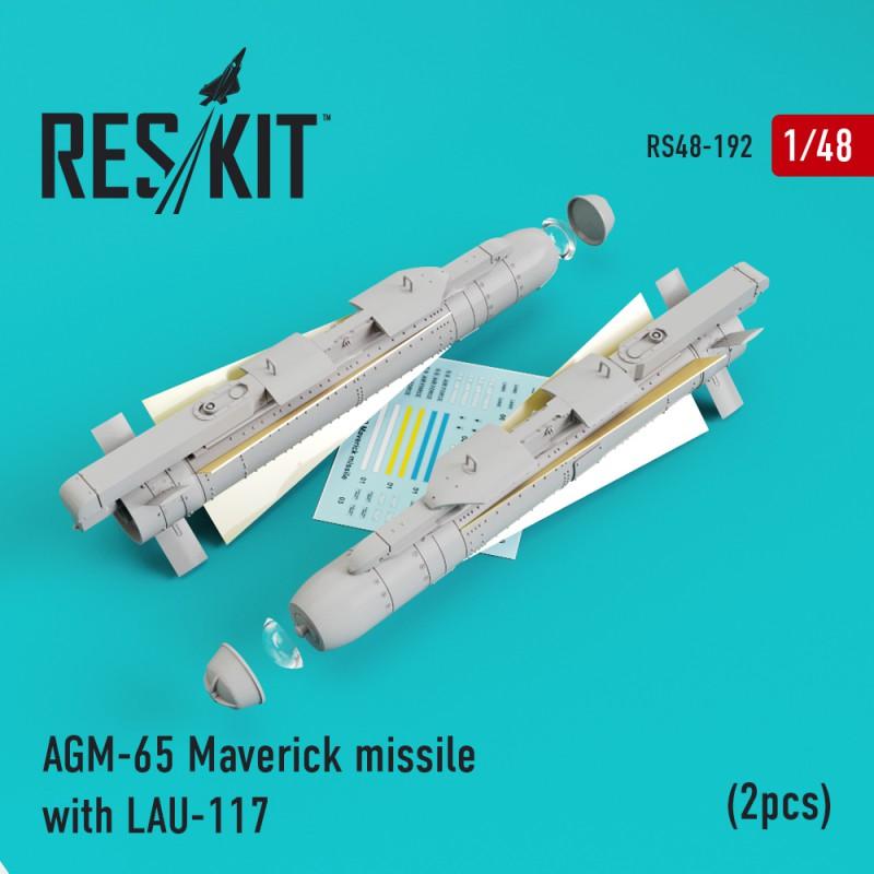 AGM-65 Maverick missile with LAU-117  (2 штуки) (1/48)