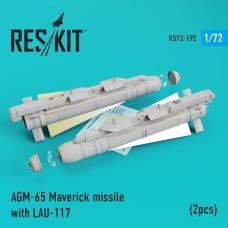 AGM-65 Maverick missile with LAU-117  (2 штуки) (1/72)