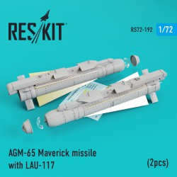 AGM-65 Maverick missile with LAU-117  (2 штуки) (1/72)