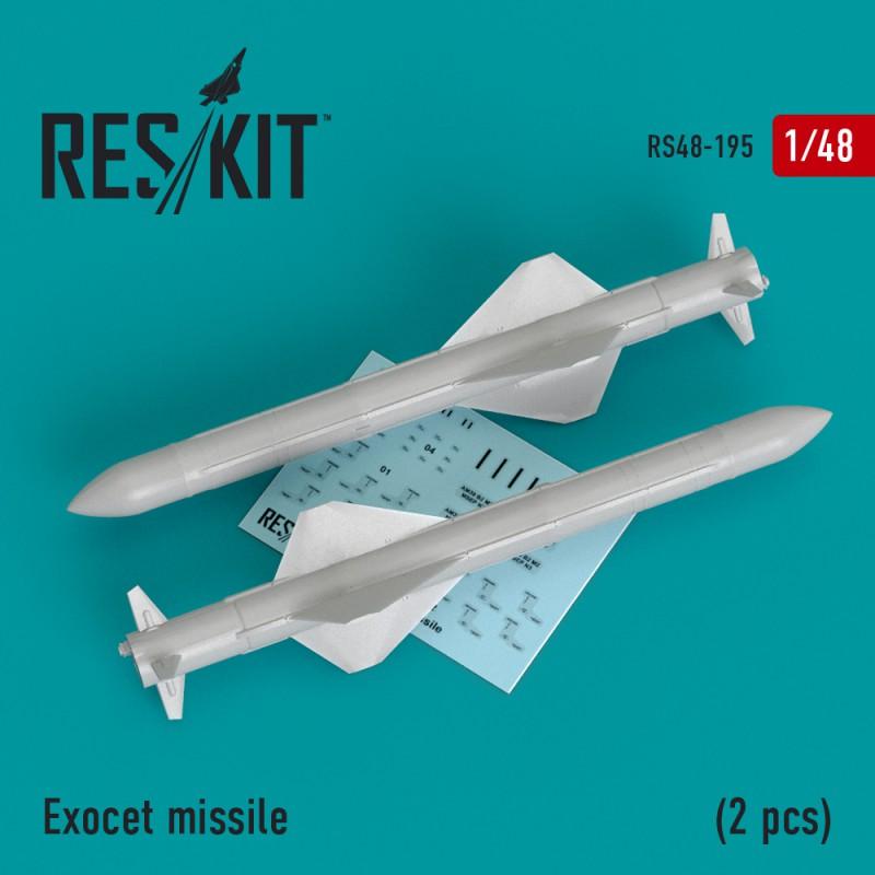 Exocet missile  (2 штуки) (1/48)