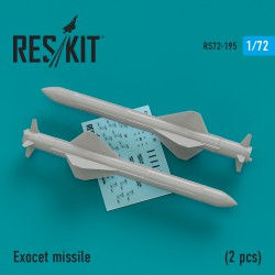 Exocet missile  (2 штуки) (1/72)