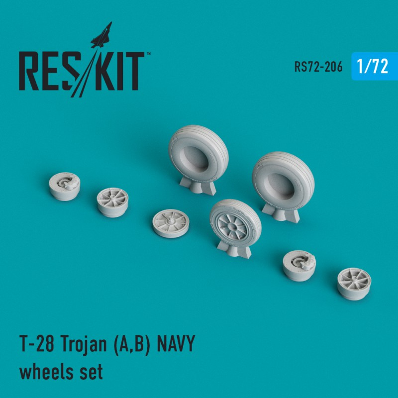 T-28 Trojan (A,B) NAVY смоляные колеса (1/72)