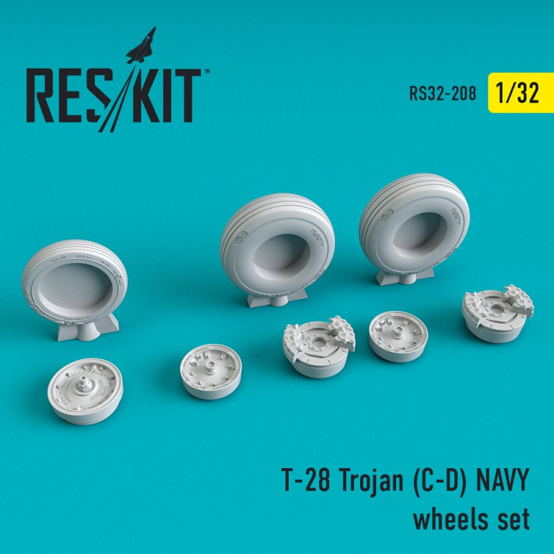 T-28 Trojan (C-D) NAVY смоляні колеса (1/32)