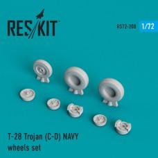 T-28 Trojan (C-D) NAVY смоляные колеса (1/72)