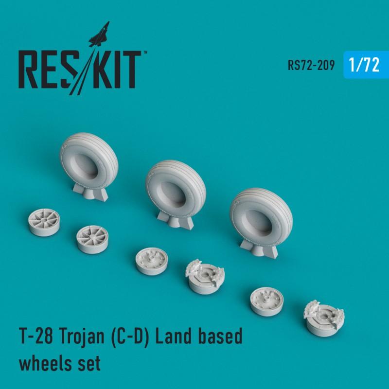 T-28 Trojan (C-D) Land based смоляные колеса (1/72)