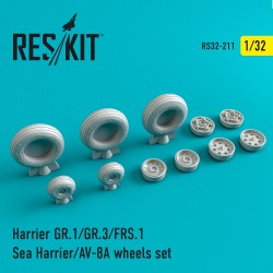 Harrier GR.1/GR.3/AV-8A/FRS.1/Sea Harrier смоляные колеса (1/32)