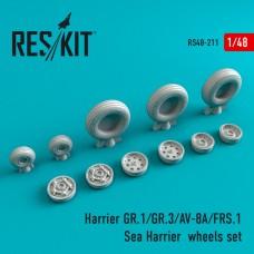 Harrier GR.1/GR.3/AV-8A/FRS.1/Sea Harrier смоляные колеса (1/48)