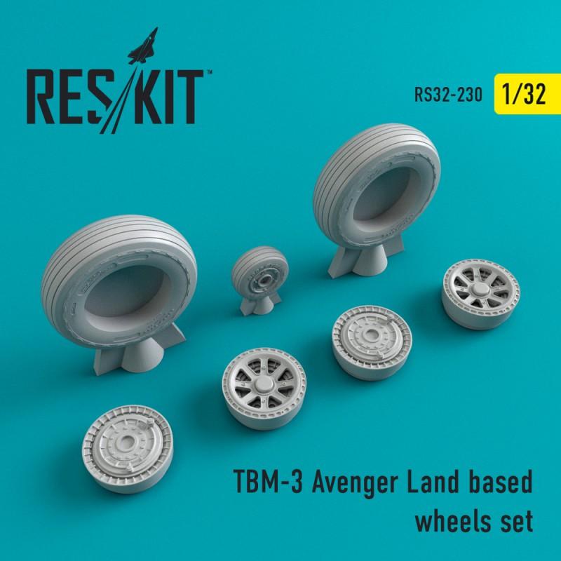 TBM-3 Avenger Land based смоляні колеса (1/32)