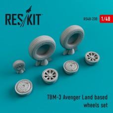 TBM-3 Avenger Land based смоляные колеса (1/48)