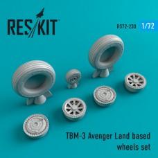 TBM-3 Avenger Land based смоляные колеса (1/72)