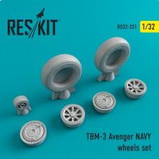 TBM-3 Avenger NAVY смоляні колеса (1/32)
