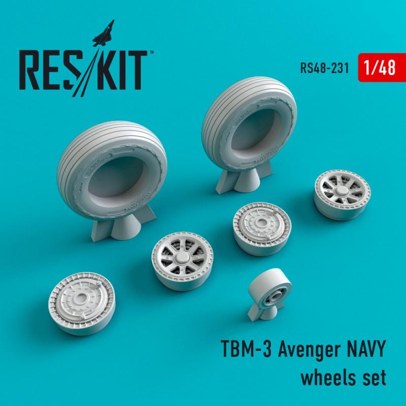 TBM-3 Avenger NAVY смоляные колеса (1/48)