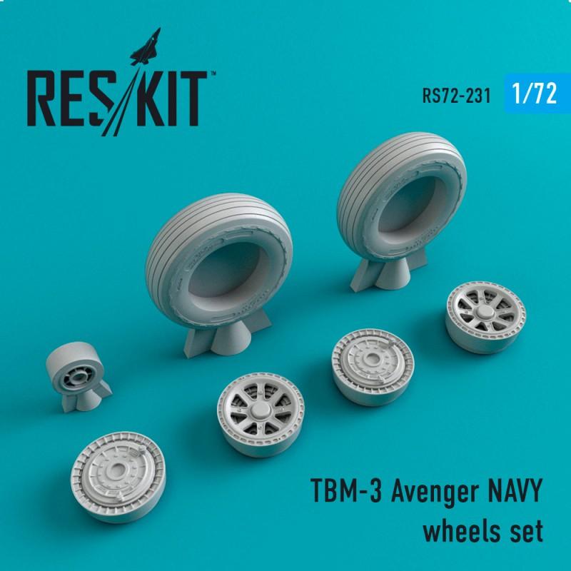 TBM-3 Avenger NAVY смоляные колеса (1/72)