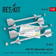 """AIM-9B """"Sidewinder"""" missile (4 штуки)   (1/48)"""