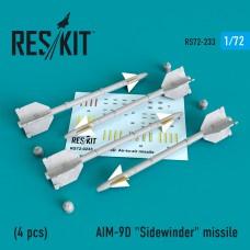 "AIM-9D ""Sidewinder"" missile   (4 штуки)   (1/72)"