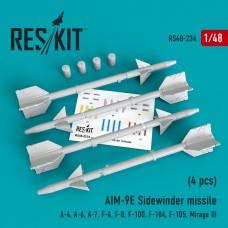 "AIM-9E ""Sidewinder"" missile   (4 штуки)   (1/48)"