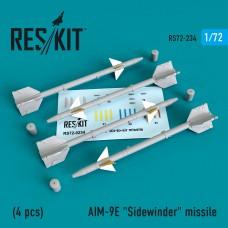 "AIM-9E ""Sidewinder"" missile   (4 штуки)   (1/72)"