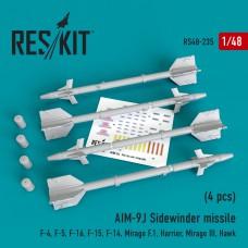 """AIM-9J """"Sidewinder""""  (4 штуки)   (1/48)"""