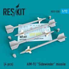 """AIM-9J """"Sidewinder""""  (4 штуки)   (1/72)"""