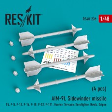 """AIM-9L """"Sidewinder"""" missile (4 штуки)   (1/48)"""