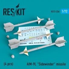 """AIM-9L """"Sidewinder"""" missile (4 штуки)   (1/72)"""