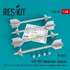"AIM-9M ""Sidewinder"" missile (4 штуки)   (1/48)"