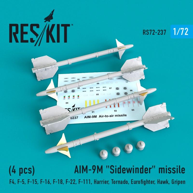 "AIM-9M ""Sidewinder"" missile (4 штуки)   (1/72)"