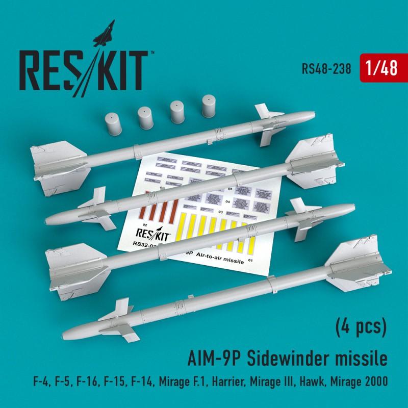 "AIM-9P ""Sidewinder""  missile (4 штуки)   (1/48)"