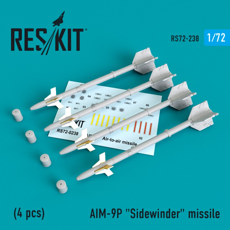 "AIM-9P ""Sidewinder""  missile (4 штуки)   (1/72)"