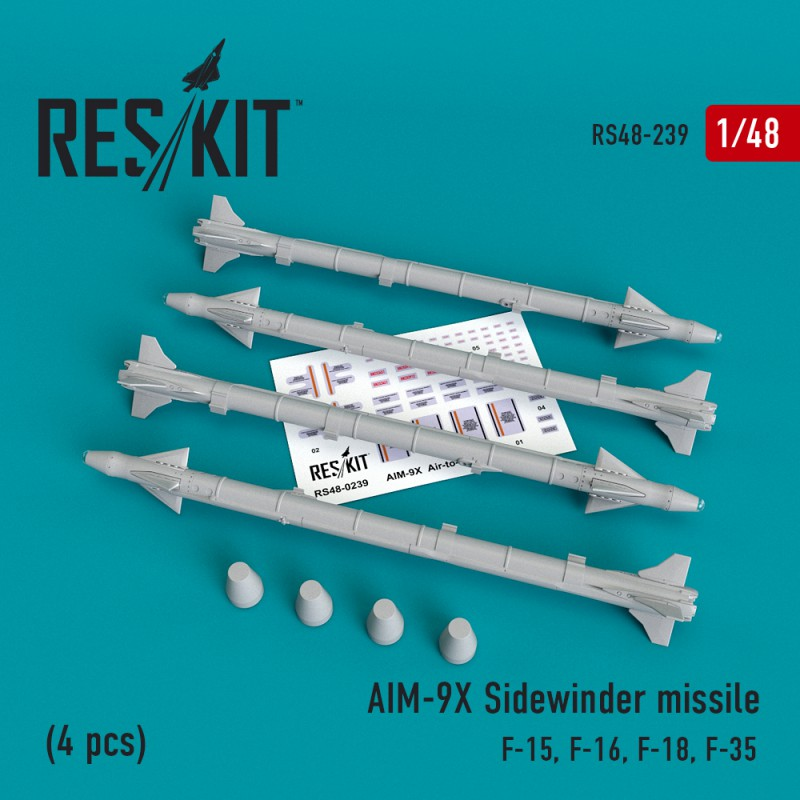 """AIM-9X """"Sidewinder""""  missile (4 штуки)   (1/48)"""