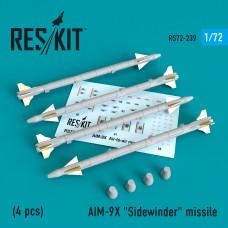 """AIM-9X """"Sidewinder""""  missile (4 штуки)   (1/72)"""
