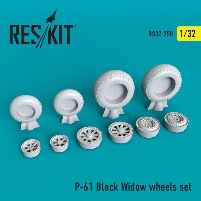 P-61 Black Widow смоляні колеса (1/32)