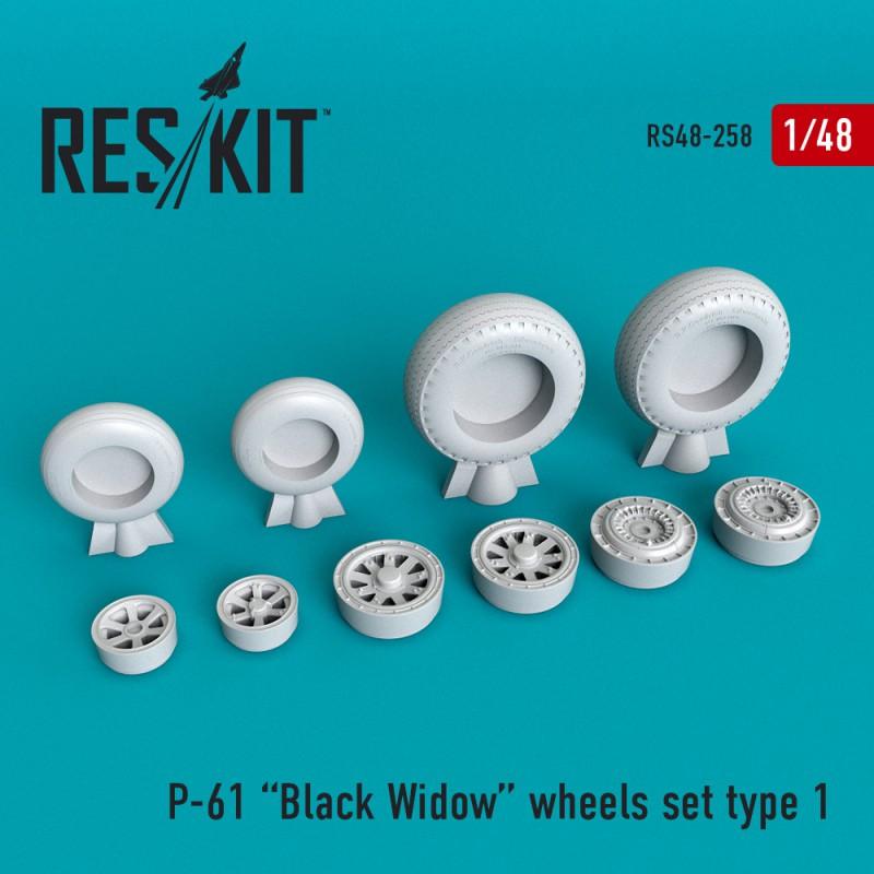 P-61 Black Widow смоляные колеса (1/48)