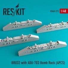 BRU32 with ADU-703 Bomb Rack (4 штуки)   (1/48)