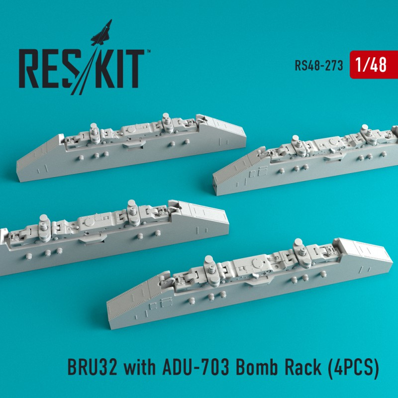 BRU32 with ADU-703 Bomb Rack (4 штуки)   (1/48)