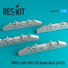 BRU32 with ADU-703 Bomb Rack (4 штуки)   (1/72)