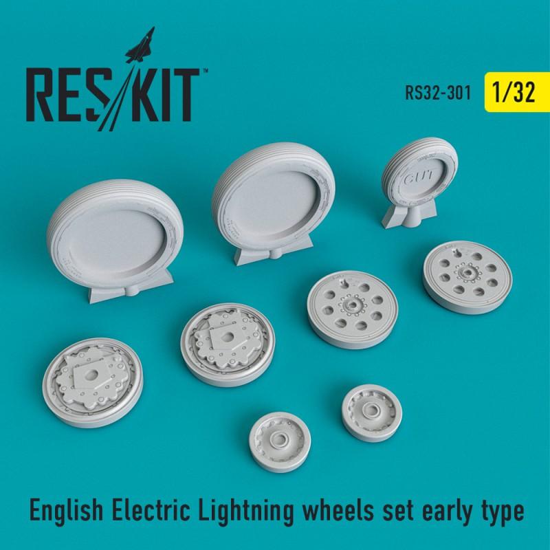 English Electric Lightning ранній тип смоляні колеса (1/32)
