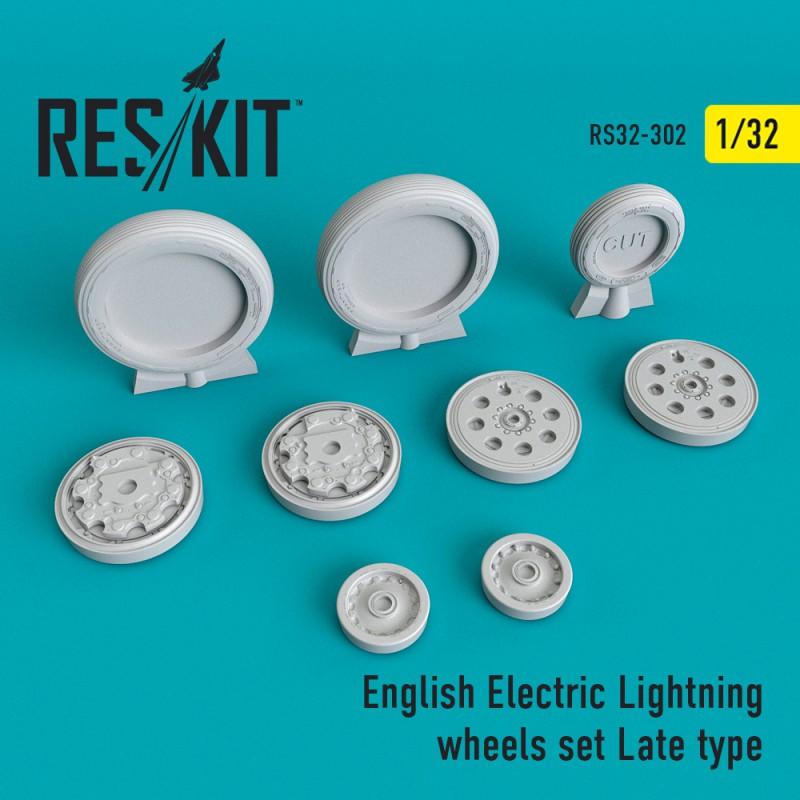 English Electric Lightning пізній тип смоляні колеса (1/32)