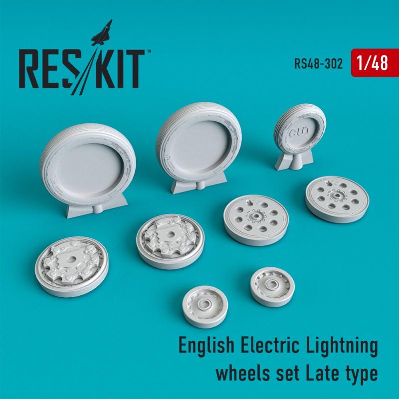 English Electric Lightning пізній тип смоляні колеса (1/48)