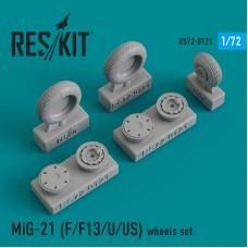 MiG-21 (F/F13/U/US) смоляные колеса (1/72)