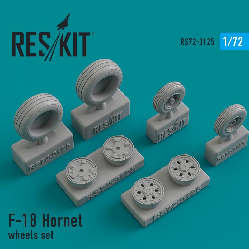 F-18 Hornet  смоляные колеса (1/72)