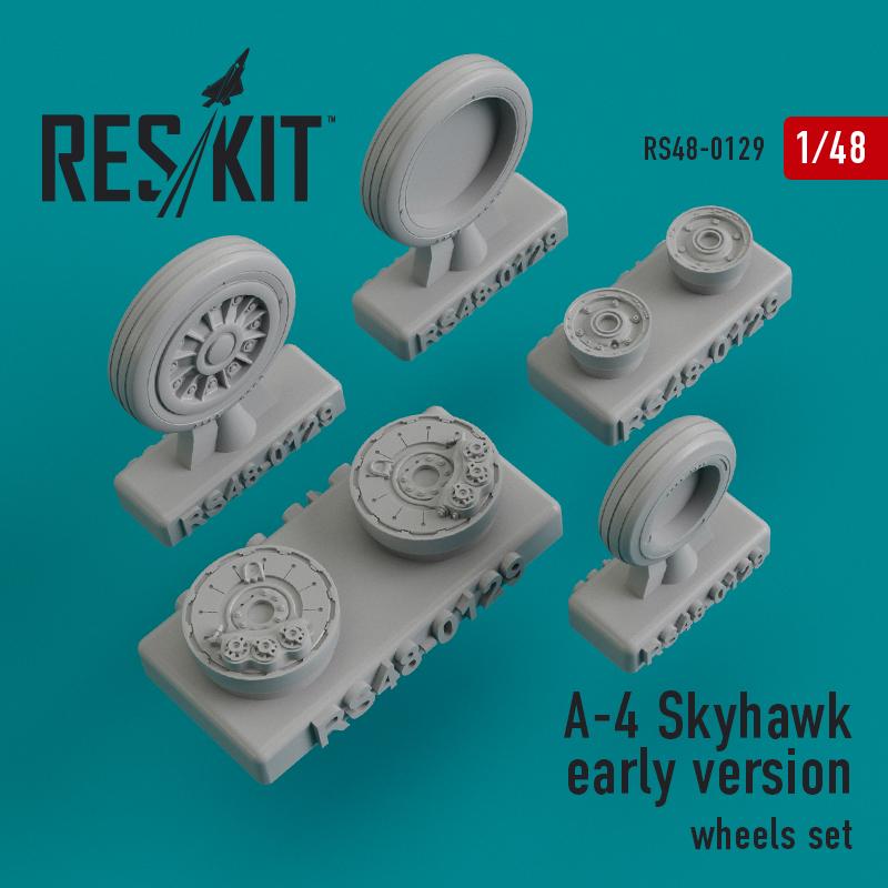 A-4 Skyhawk early version смоляные колеса (1/48)