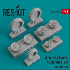 A-4 Skyhawk late version смоляные колеса (1/48)