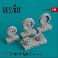 F-8 Crusader Type 2  смоляные колеса (1/48)