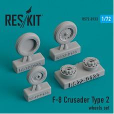 F-8 Crusader Type 2  смоляные колеса (1/72)