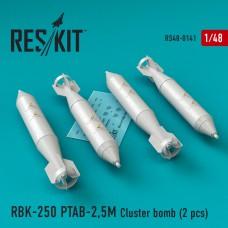 РБК-250 ПТАБ-2,5M кассетная бомба (4 штуки) (1/48)